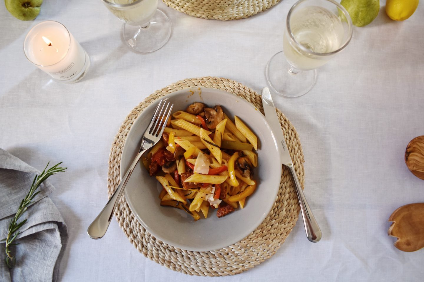 Super Simple Chorizo Summer Pasta Recipe