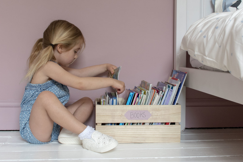childrens book strorage ideas