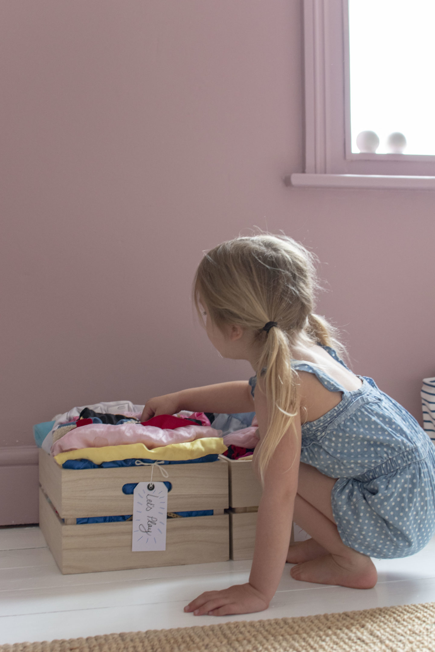 childrens dressing up storage crates