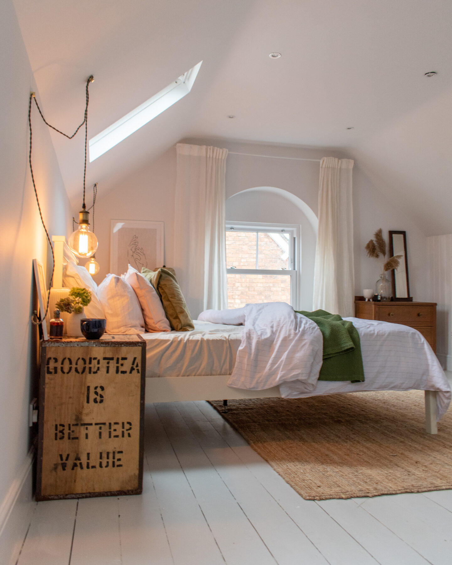 Attic Bedroom Renovation: From dated to Fresh & Bright